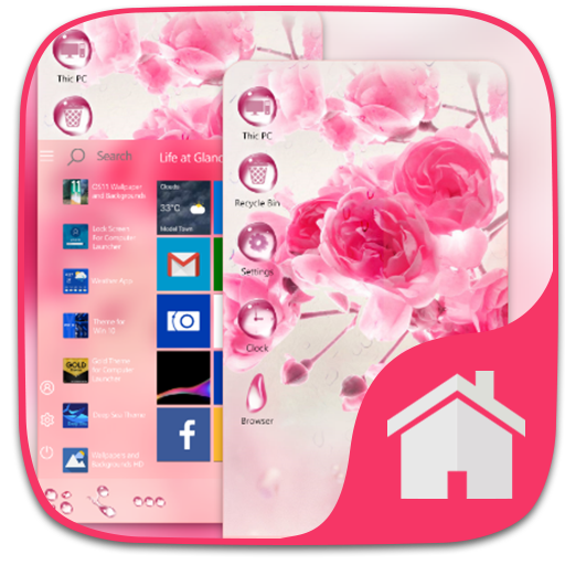Water Drop theme For Computer Launcher