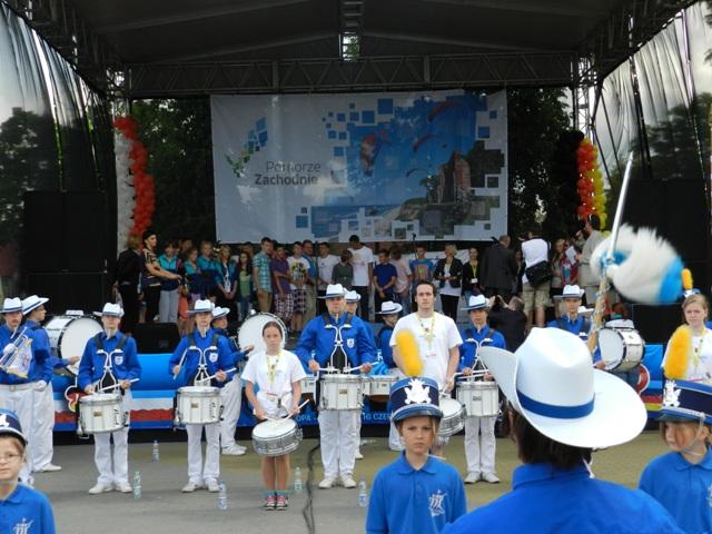 Auftritt der Neubrandenburger Stadtfanfaren im Rahmen des 15. Deutsch-Polnischen Jugendfestivals 2013 in Wałcz. Archivbild: Iwona Kowalczyk