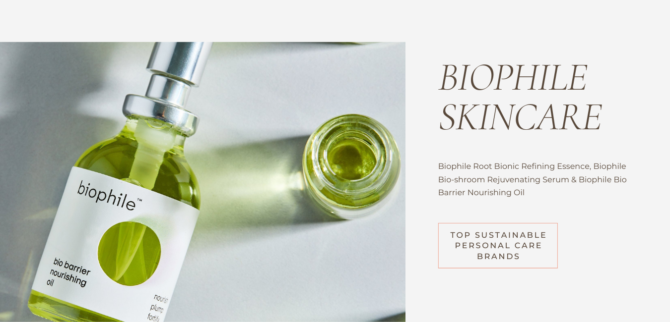 embrace sustainable living with biophile