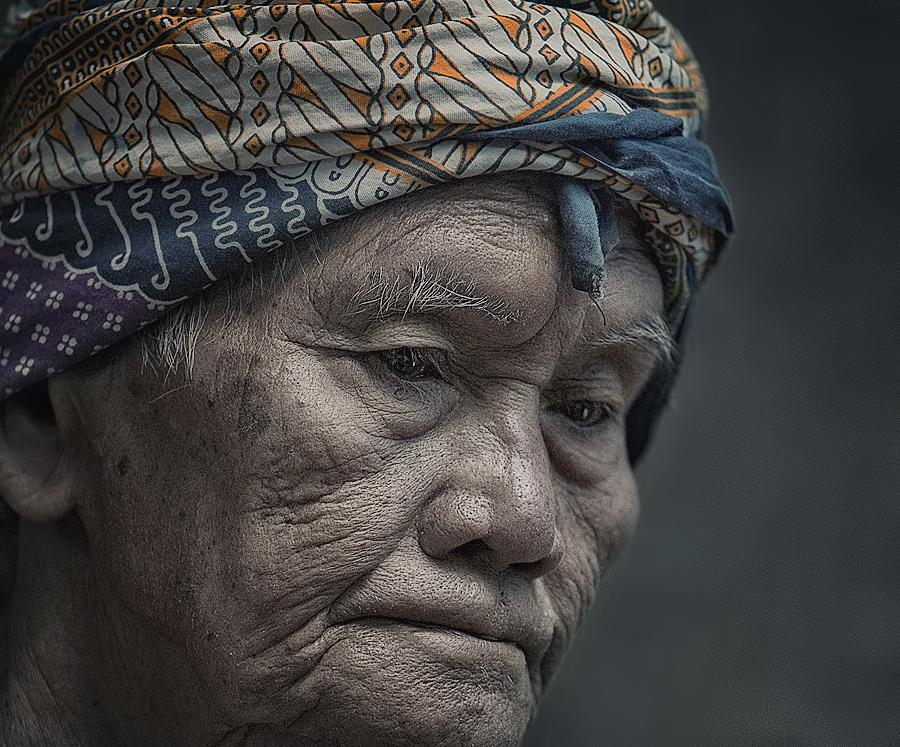 Javanese Old Man by German Kartasasmita - People Portraits of Men ( senior citizen )