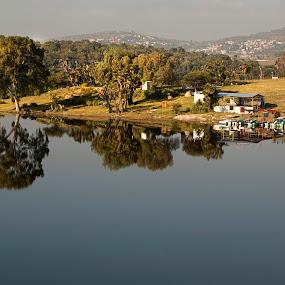 VAlsequillo lagoon by Cristobal Garciaferro Rubio - Travel Locations Landmarks ( reflection, lagoon, puebla, trees, lake, valsequillo )