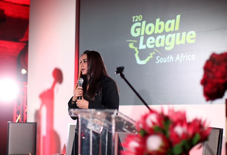 Owner of the Stellenbosch Kings Preity Zinta during the Stellenbosch Franchise function and Media Briefing at Val de Vie Estate on September 13, 2017 in Paarl, South Africa.