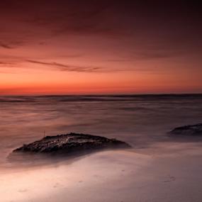 Sunset by Robert  Płóciennik - Landscapes Beaches ( sky, sunset, beach, summer, stone )