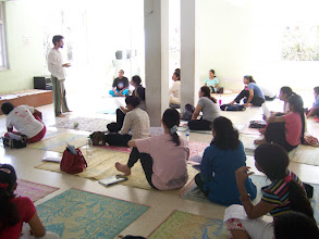 Photo: 1 Month YTT Course - Batch of May 2008 - Daniel Fonseca conducting Theory Class.