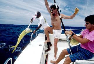 Foto: Frankreich, La Réunion, Sportfischen, 1989 (France, La Réunion, sport fishing, 1989)  © Eckhard Supp