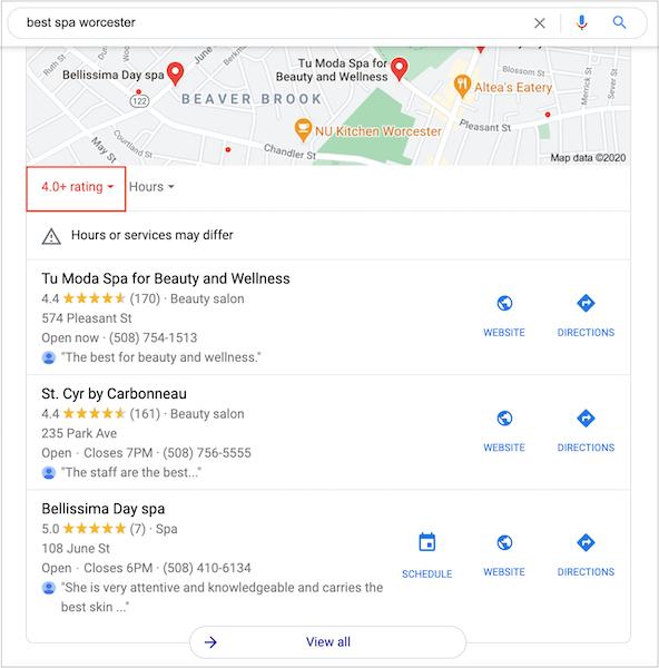 Đánh giá tốt rất quan trọng nếu bạn muốn xếp hạng trong gói địa phương của google.