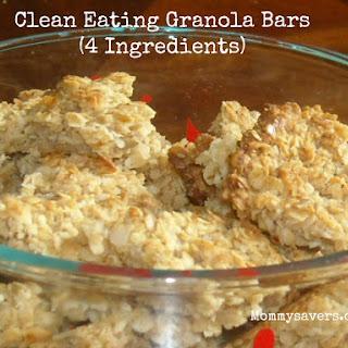 Clean Eating Granola Bars (4 Ingredients)