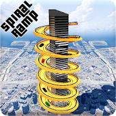 Spiral Ramp : Crazy Mega Ramp Car Stunts Racing