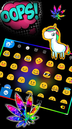 Colorful Weed Keyboard Theme ss3