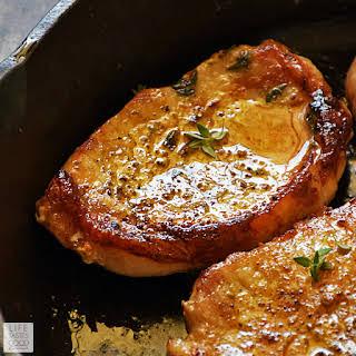 Pan-Seared Boneless Pork Chops.