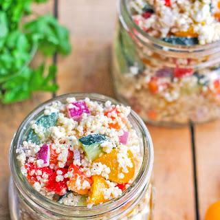 Mediterranean Quinoa Salad in a Jar.
