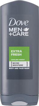 Dove Men+Care Body & Face Shower Gel - Extra Fresh, 400ml