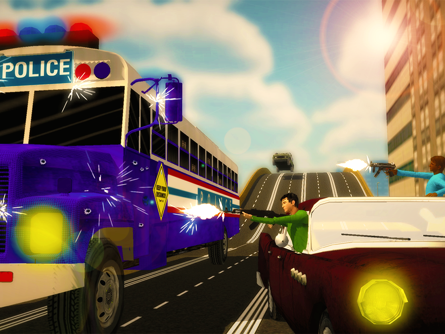Police-Bus-Gangster-Chase 15