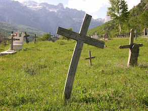 Photo: Graves in the Theth Valley