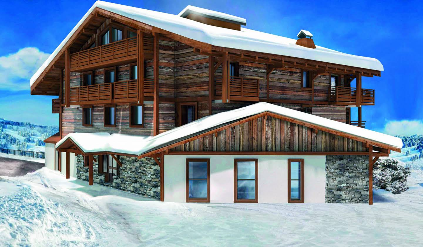 Apartment with terrace and pool Megeve