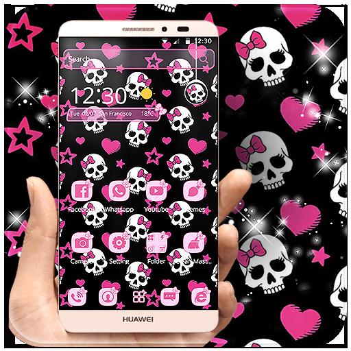 Pink Skull Theme