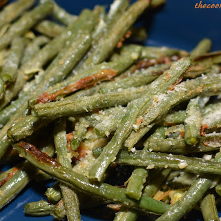 Crispy Garlic and Parmesan Green Beans