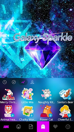 Galaxy Sparkle Kika Keyboard 8.0 screenshot 1272027