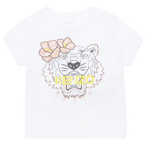Primary image of Kenzo Kids Girls White Tiger Tee