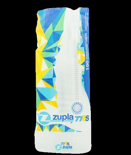 Vasos Zupla Plasticos Transparente 7 Oz 100und