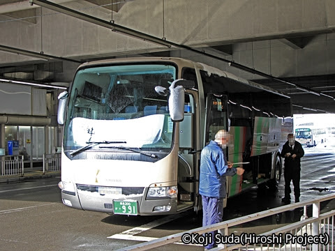 弘南バス「スカイ号」 991 弘前バスターミナル改札中