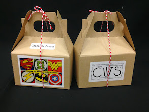 Photo: Baby Shower CUTS® party favors. Custom sticker & bakery twine provided by customer.
