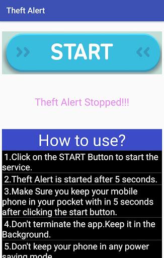 Theft Alert 1.0 screenshots 1