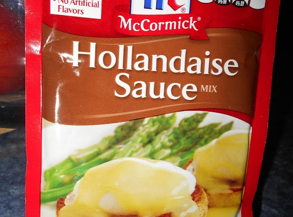 Make your Hollandaise sauce per the pkg instructions.  This is where I did...