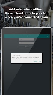 Atom - Subscriber sign-up app- screenshot thumbnail