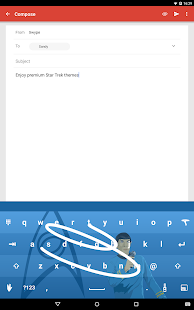 Swype Keyboard Trial Screenshot