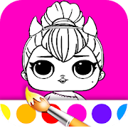Dolls Coloring Book
