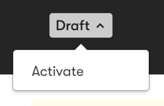 The drop-down to activate a Rule.