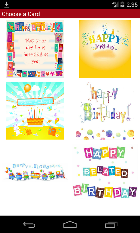 Happy Birthday Card with Smiley and Bubble Text Android Apps – Text Birthday Card