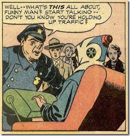 Jack Kirby Cop and crowd