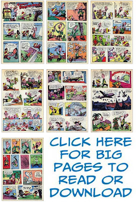 Thumbnail images of all the pages from Count Screwloose story from ACG comics Kilroys