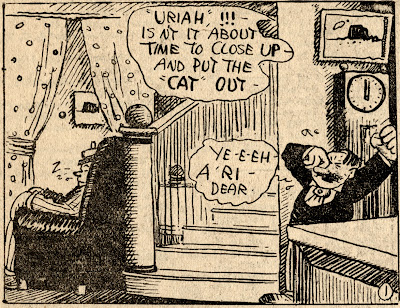 George Herriman Stumble Inn motel interior lobby high resolution hi-res comic strip scan