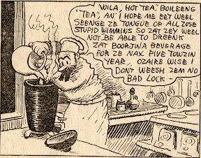 Mr. Weewee the French chef who works in the kitchen in George Herriman's Stumble Inn comic strip scan high-resolution
