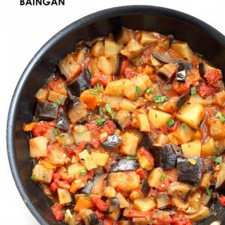 Aloo Baingan Recipe Curried Potato Eggplant