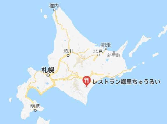 地図:レストラン郷里ちゅうるい