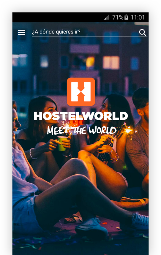 Hostelworld -Hostels albergues: captura de pantalla