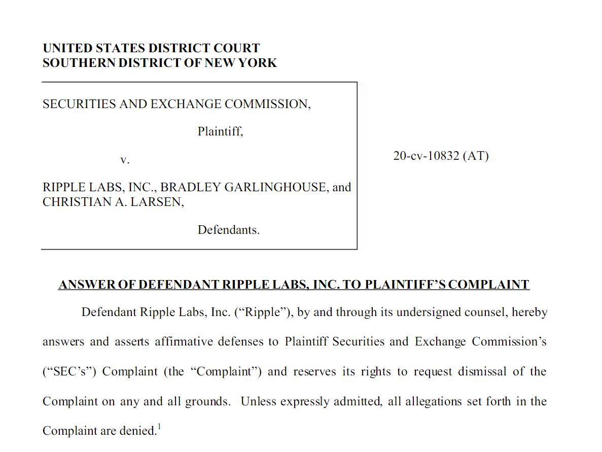 Ответ Ripple на обвинения ESC