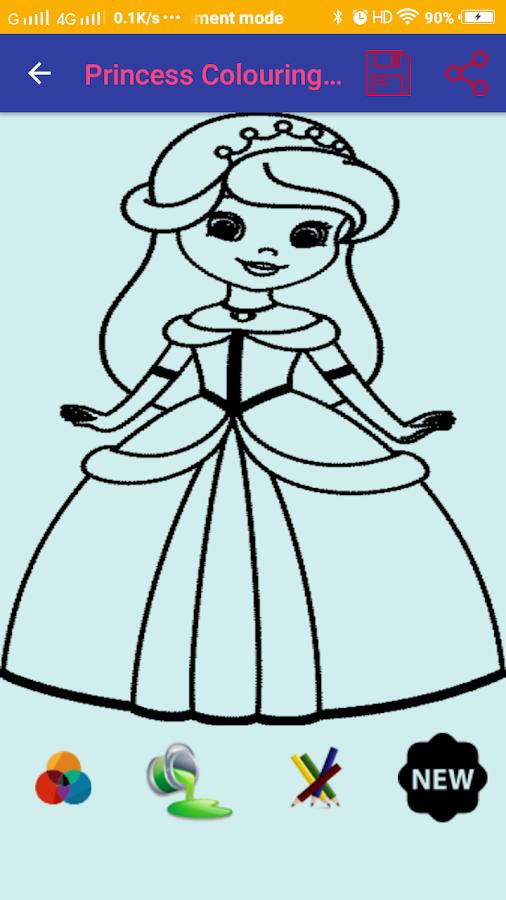 princess colouring games screenshot - New Colouring Games