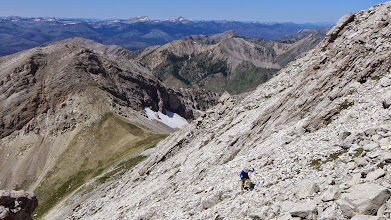 Photo: Next - We climbed up from that pass shown below.
