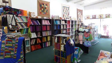 Photo: I found a quilt and yarn shop where they wanted $20 a meter for their material!  I didn't buy anything here.