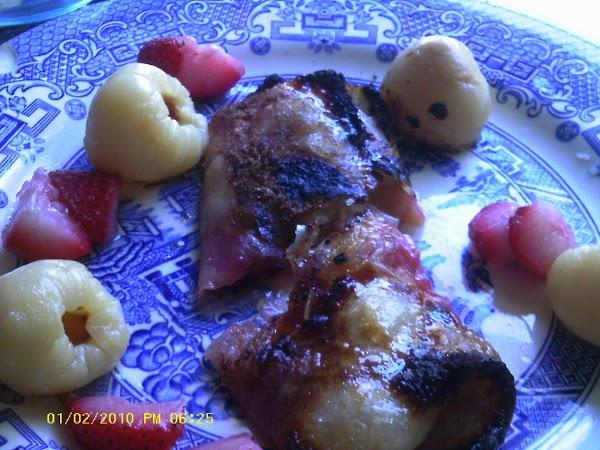 Strawberry-lychee Spring Rolls Recipe
