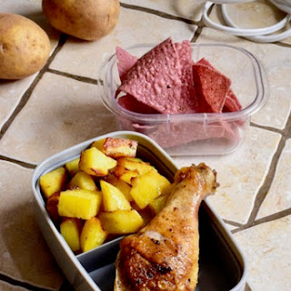 Paleo Chicken and Roasted Golden Potatoes.