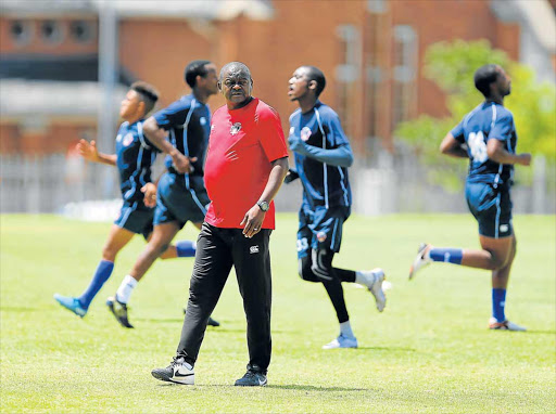 TOUGH ASK: Chippa United head coach Dan Malesela will be hoping to see his faltering side turning the corner when they take on Orlando Pirates at Nelson Mandela Bay Stadium tonight Picture: GALLO IMAGES