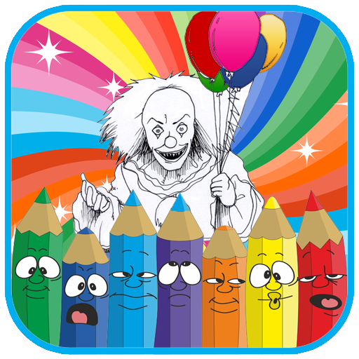 How to color it halloween clown ( painting games ) (game)