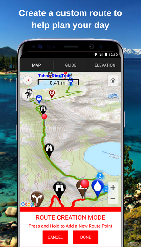 Tahoe Rim Trail Guide- screenshot