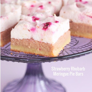 Low Carb Strawberry Rhubarb Meringue Pie Bars